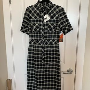 NWT Plaid Wool D&G Dress